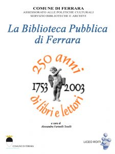 "Copertina dell'ebook ""La biblioteca pubblica di Ferrara"""