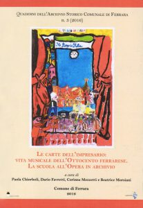Copertina del Quaderno n. 3 dell'Archivio Storico Comunale di Ferrara